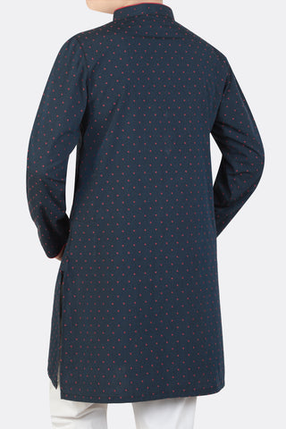 Boys Panjabi NAVY PRINTED(0-7 years)