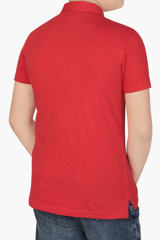 BOYS POLO  RED (2-5 Years)