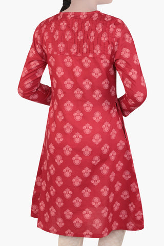 Junior Girl's Ethnic Top CHILLI PEPPER PRINTED (10-15 Years)