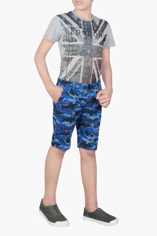PRINCE SHORT PANT AQUA FOREST (2-5 Years)