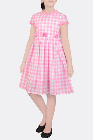 GIRLS DRESS PINK CHECK (2-5 YEARS)