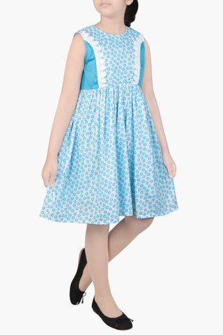 GIRLS DRESS BLUE (6-9 Years)