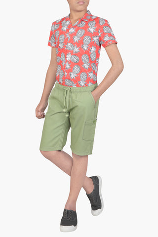 PRINCE SHORT PANT OLIVE (6-9 Years)