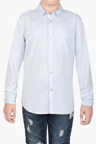 Junior Boy's Shirt LT BLUE (10-15 years)