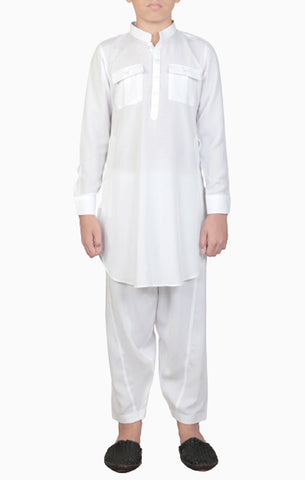 Boy's Kabli WHITE (8-15 Years)