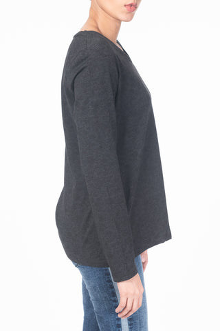 Women's Full Sleeves T-Shirts GRIS JO P1