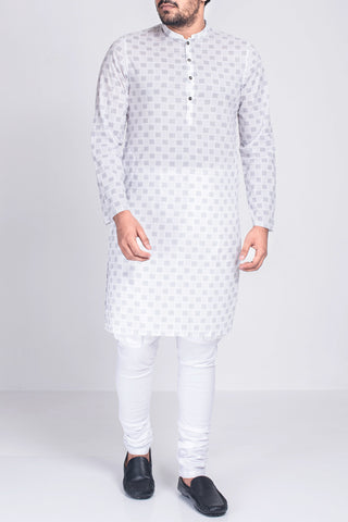 MEN'S PANJABI WHITE