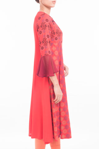 Embroidered Women's Ethnic Trail RED