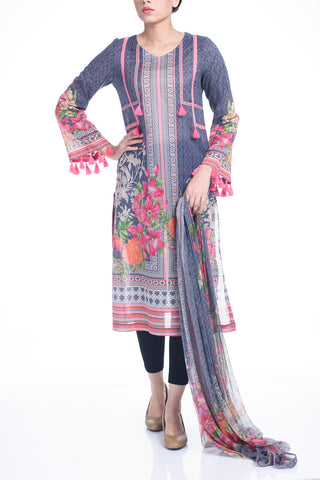 Women's Lawn ( 2 Piece) - FUSCOUS GREY