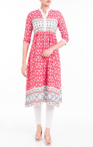 Embroidered Women's Ethnic Trail MAROON PRINTED