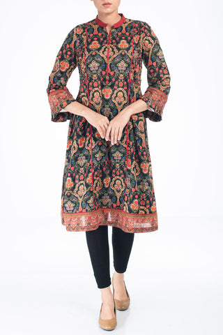 Women's Lawn  Kurti BLACK FOREST