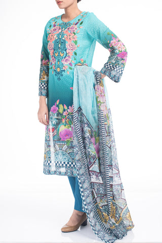 Women's Lawn (3 piece) -  AQUAMARINE