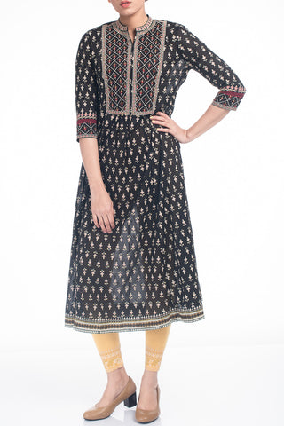 Women's Ethnic Kurti BLACK