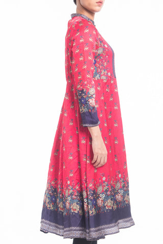 Women's Semi-Formal Lawn -  RUBY PINK