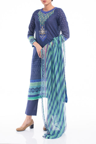 Women's Lawn (3 piece) - RAHINO NAVY