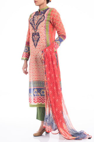 Women's Lawn (3 piece) - RED