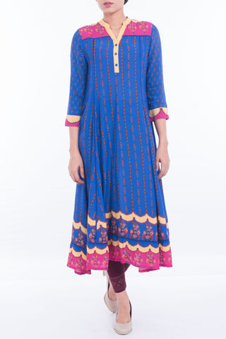 Women's Ethnic ROYAL BLUE PRINTED