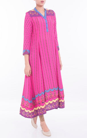 Women's Ethnic ROSE RED PRINTED