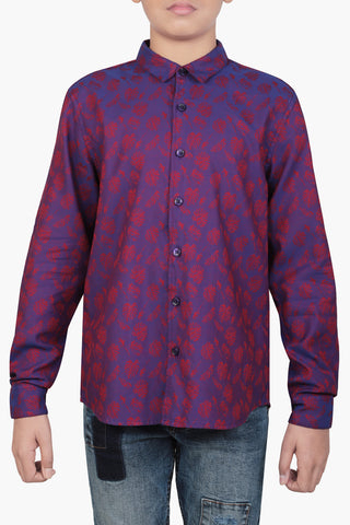 Junior Boy's Shirt VIOLET (10-15 years)