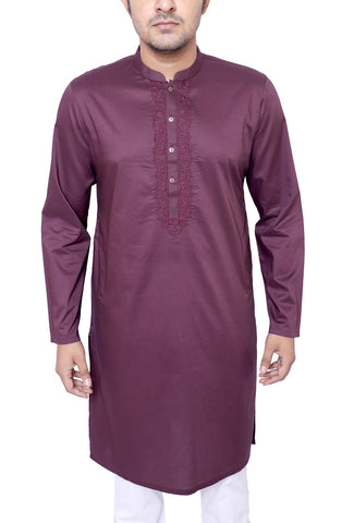 MENS PANJABI BLACK BERRY
