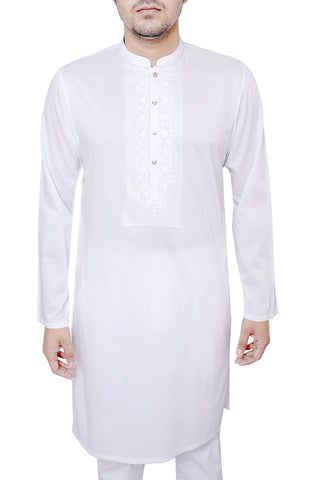 MENS PANJABI POWDER WHITE