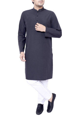 MENS PANJABI BLACK BEAN