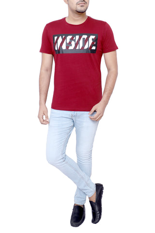 MENS T-SHIRT BURGUNDY