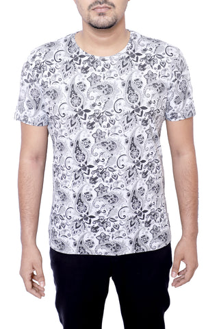 MENS T-SHIRT GREY PRINT