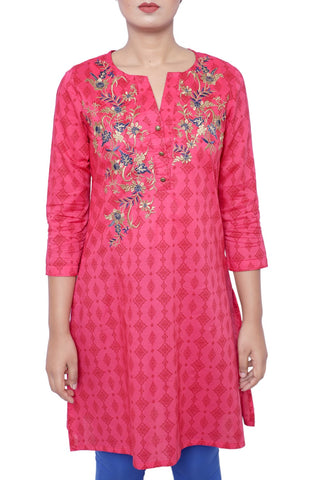 Women's Fatua ROSE RED PRINTED