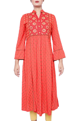 Women Ethnic Trail FLAME SCARLET PRINTED