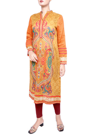 Women's Lawn Kurti FIERY ORANGE