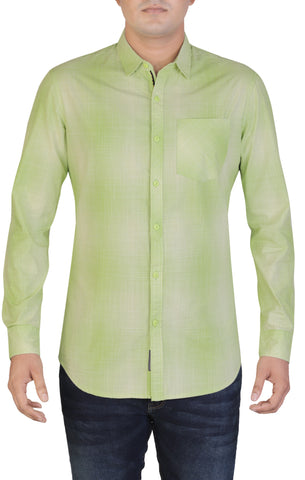 Men's Casual Shirt  GREEN MICRO CHECK