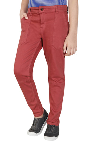 BOYS WOVEN BOTTOM MAROON (6-9years)