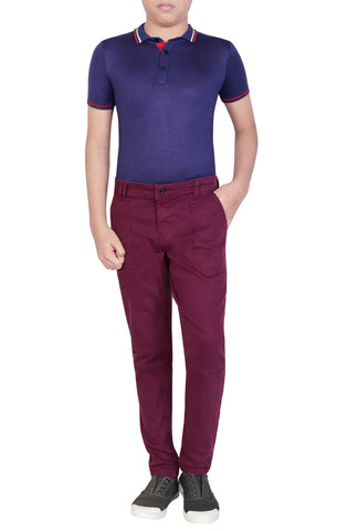 BOYS WOVEN BOTTOM PURPLE (2-5 Years)