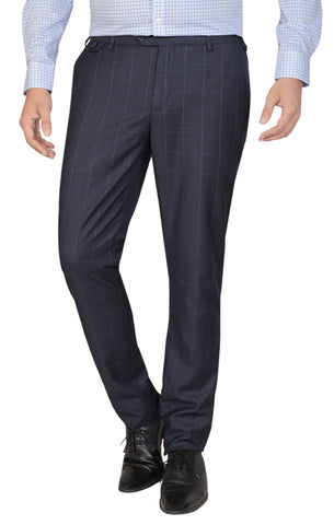 MENS FORMAL PANT BLUE CHECK