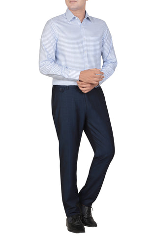 MENS FORMAL PANT NAVY CHECK
