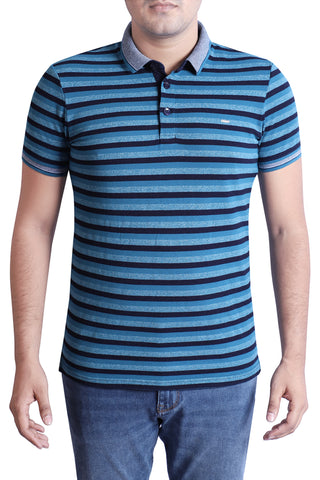 MENS POLO INDIGO INK BLUE