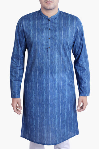 MEN'S PANJABI MIX BLUE