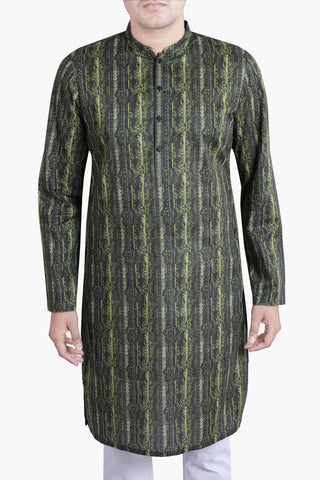 MEN'S PANJABI MIX OLIVE