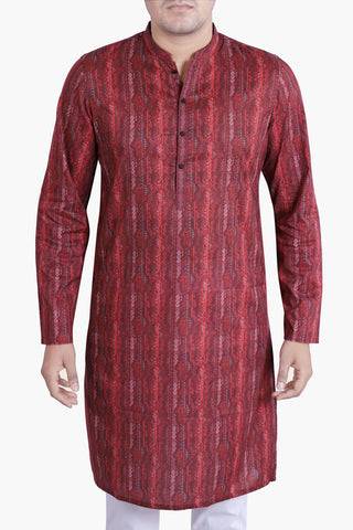 MEN'S PANJABI MIX MAROON