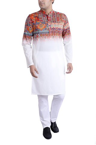 MENS PANJABI MULTI ROSE