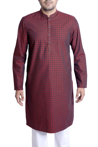 MENS PANJABI BROWN BOX