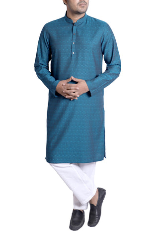 MENS PANJABI TEAL