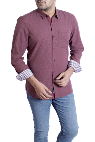 MENS CASUAL SHIRT  MULBERRY DOBBY