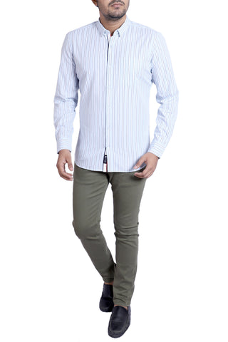 MENS CASUAL SHIRT  SKY BLUE STRIPE
