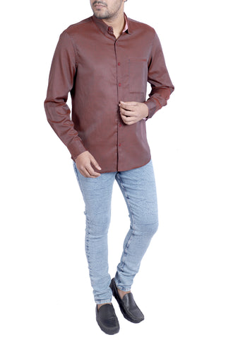 MENS CASUAL SHIRT  CHOCOLATE