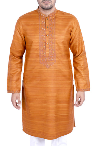 MENS PANJABI BROWN