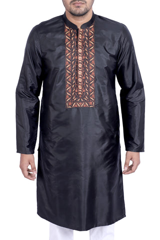 MENS PANJABI BLACK ONXY