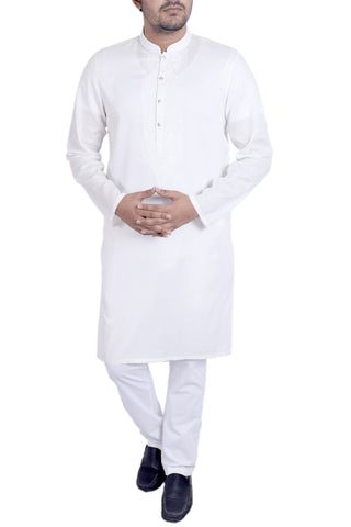 MENS PANJABI WHITE