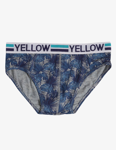 MENS UNDER WEAR GREY MELANGE PRINT